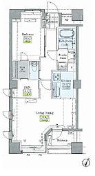 JR山手線 大塚駅 徒歩9分の賃貸マンション 4階1SLDKの間取り