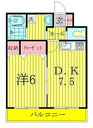 モン・ラフィーヌ 3階1DKの間取り