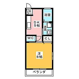 コーポ藤 C[2階]の間取り