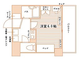 (仮称)上京区天秤町学生会館[食事付き] 5階1Kの間取り