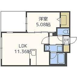 リアンマルヤマ[1階]の間取り