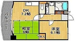 ライオンズマンションマキシム平尾[2階]の間取り