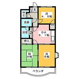 オーシャンハイム[2階]の間取り