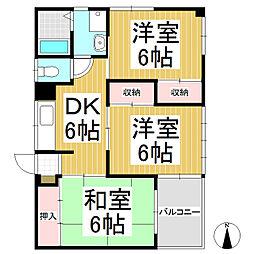 コーポ直江[2階]の間取り