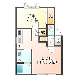 北海道札幌市東区北四十七条東9丁目の賃貸アパートの間取り