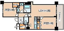 兵庫県神戸市中央区元町通6丁目の賃貸マンションの間取り
