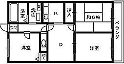 大阪府堺市西区浜寺元町5丁の賃貸アパートの間取り