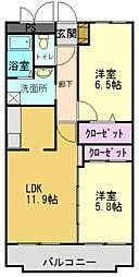 グリーンコート加古川1番館[3階]の間取り