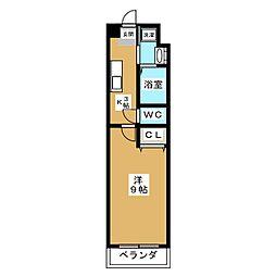 ヒーリングコート御所西[2階]の間取り