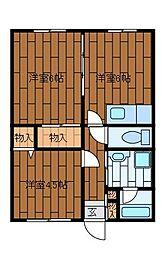 サンホワイトM508[1階]の間取り