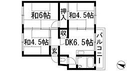 兵庫県伊丹市池尻5丁目の賃貸マンションの間取り