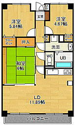 リフレ21[4階]の間取り