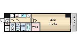 アーデンタワー靭公園[2階]の間取り