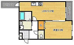 フジパレス平野2番館[2階]の間取り