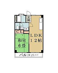 埼玉県草加市花栗4丁目の賃貸マンションの間取り