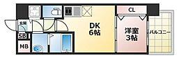オリエンテム 5階1DKの間取り