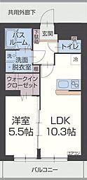 セルカ・リーオ 1階1LDKの間取り