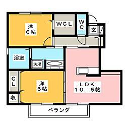 ヴィーブルハウス[2階]の間取り
