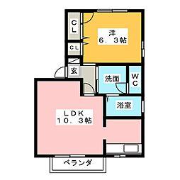 フレシールC[2階]の間取り