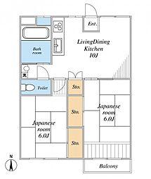 横浜・山下町分譲共同ビル[605号室]の間取り