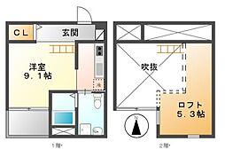 エスポワールOOSUGI[2階]の間取り