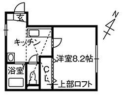 新潟県新潟市西区大学南2丁目の賃貸アパートの間取り