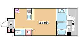 兵庫県神戸市兵庫区上沢通5丁目の賃貸マンションの間取り