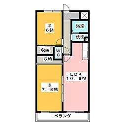 ユイマールT&T[2階]の間取り