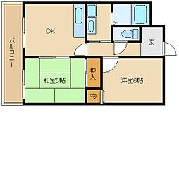 エミネンス武庫之荘[4階]の間取り