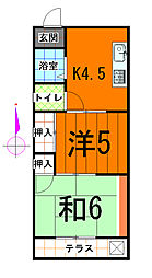 永藤マンション[304号室]の間取り
