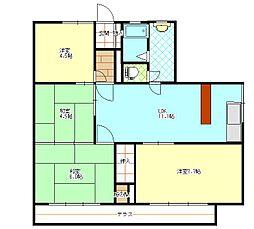 鴨居港マンション[2階]の間取り