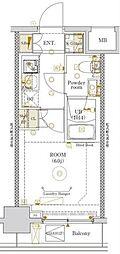 JR総武線 新小岩駅 徒歩4分の賃貸マンション 8階1Kの間取り