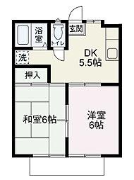 ボナールB棟[2階]の間取り