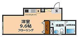 京王井の頭線 永福町駅 徒歩6分の賃貸マンション 1階1Kの間取り