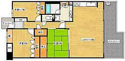 パークシティ大阪サウスガーデンズコート[4階]の間取り