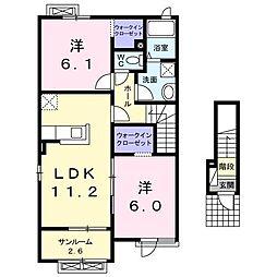 ラッフィナート I[2階]の間取り