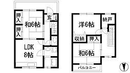 [テラスハウス] 兵庫県西宮市上大市1丁目 の賃貸【/】の間取り