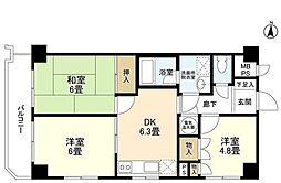 ライオンズマンション多摩川[4階]の間取り