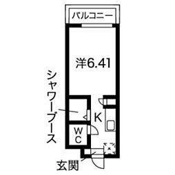 N.S.ZEAL 東別院[715号室]の間取り