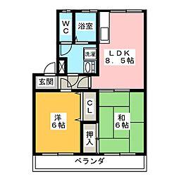 レコルト福田 I号館[3階]の間取り