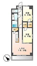 S−FORT鶴舞arts[2階]の間取り