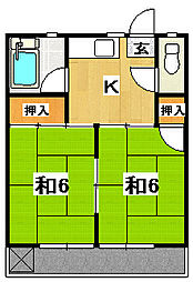 関アパート[2階]の間取り
