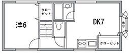 東京都中央区日本橋人形町3丁目の賃貸アパートの間取り