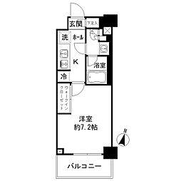 JR総武線 亀戸駅 徒歩3分の賃貸マンション 4階1Kの間取り