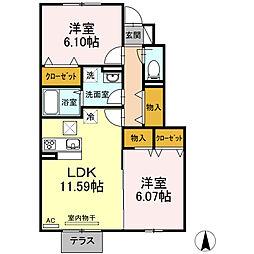 (仮)D.room知古[1階]の間取り
