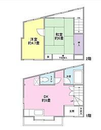 [一戸建] 神奈川県横浜市中区山元町3丁目 の賃貸【/】の間取り