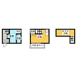 トリスアパートメント[1階]の間取り
