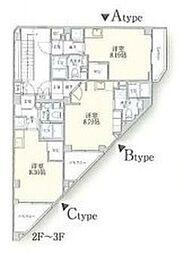 Kairos用賀[2B号室]の間取り