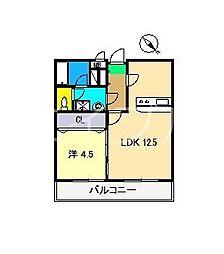 グランビュー[3階]の間取り