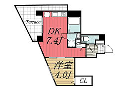 千葉県千葉市中央区院内1丁目の賃貸マンションの間取り
